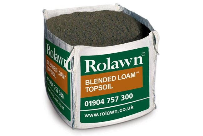 Blended loam topsoil in bulk bags rolawn for Bags of topsoil