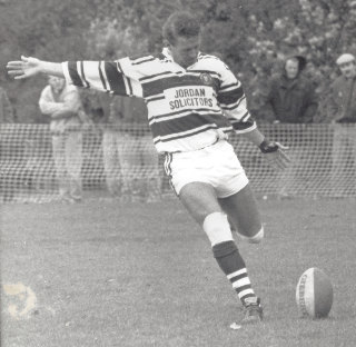 Kicking for Dewsbury Celtic 1989
