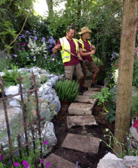 Planting in Organic Multi-Purpose Compost at Hampton Court Flower Show 2014