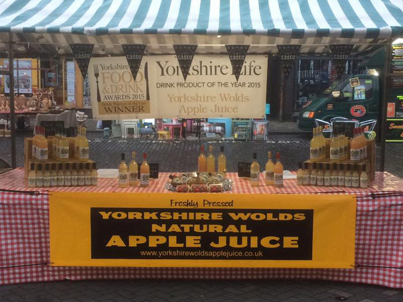 Yorkshire Wolds Apple Juice Beverley Christmas Market
