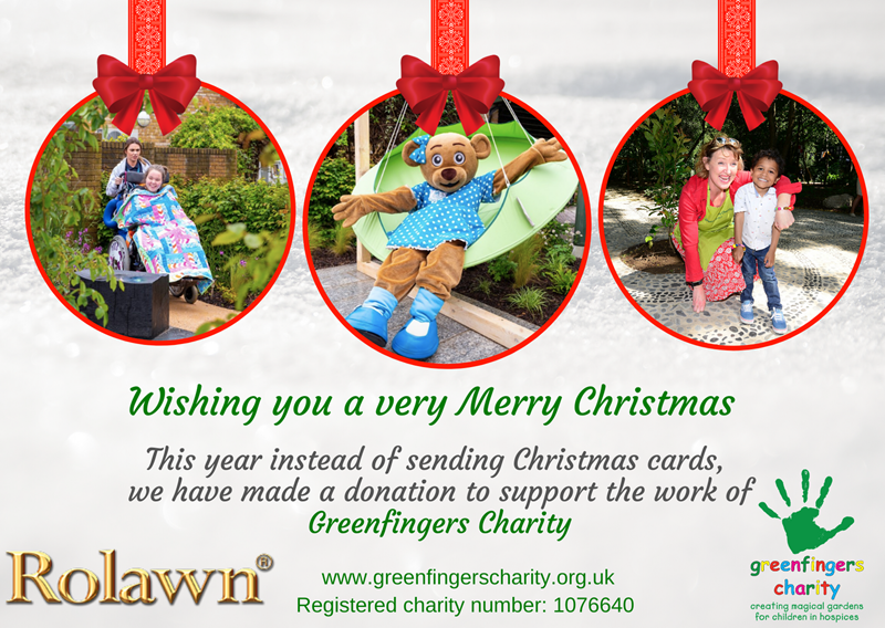 Rolawn's Christmas E-Card Supporting Greenfingers Charity