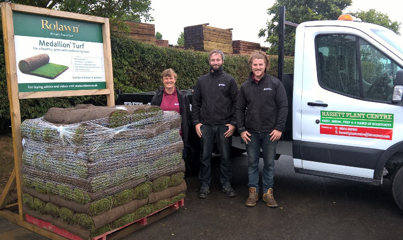 160 millionth roll of turf delivered to Hassett Plant Centre