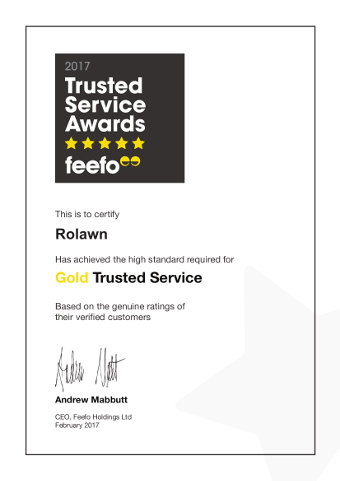 Rolawn Gold Trusted Service Award 2017