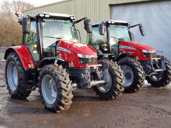 Massey Fergusson 5713 tractors at Rolawn