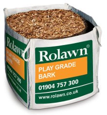Image of Rolawn Play Grade Bark Bag (1m³ Bulk Bag - 1,000 litres approx volume when packed)