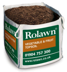 Plants & Plant Care Rolawn Vegetable & Fruit Topsoil (1m³ Bulk Bag - 1,000 litres  approx volume when packed)