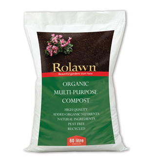 Rolawn Organic Multi-Purpose Compost Pack 60 Litre Bag